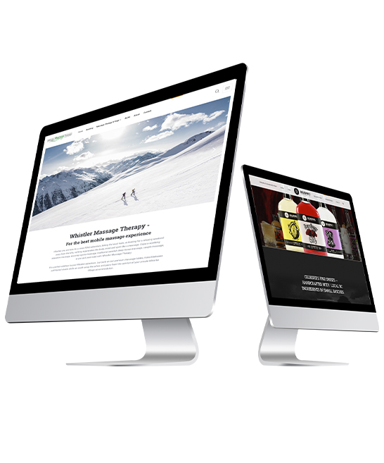 headhunters websites on imac - white background
